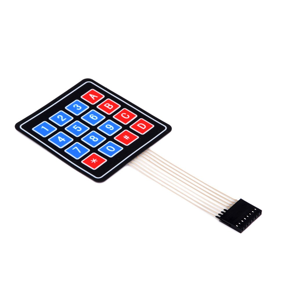 Allpartz 16 Keys 4 x 4 Membrane Switch Keypad 4 x 4 Matrix Keyboard for DIY Kit