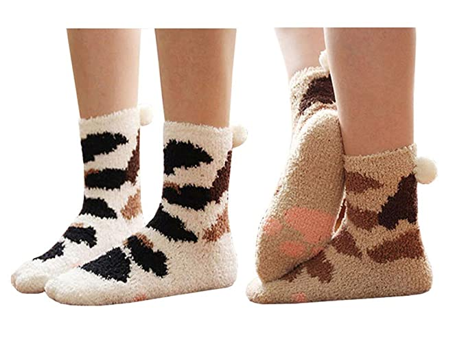 fast delivery official supplier look for Cute Cat Warm Sleeping Fuzzy Socks for Women