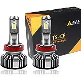 Alla Lighting 10000lm LED H11 Headlight Bulbs or Fog Lights Extremely Super Bright TS-CR H8 H9 H11 LED Headlight Bulbs or Fog Light Conversion Kits H11 Bulb, 6000K Xenon White (Set of 2)