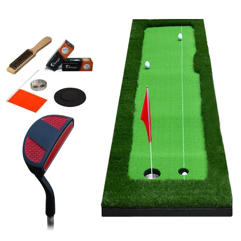 LUOマットゴルフ屋内ゴルフオフィスパター練習フェアウェイキッズ練習毛布セット、8Mm厚、2サイズオプション、A、75 * 300Cm   B07MLDRM2B
