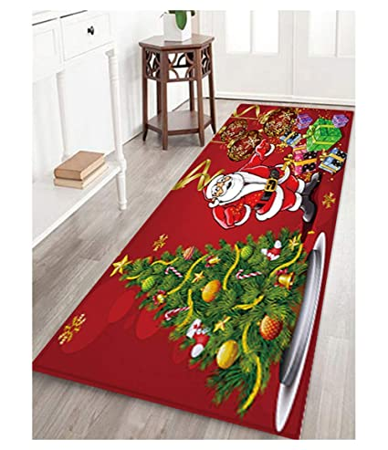 Christmas Carpet Runner.Amazon Com Eyiou Christmas Carpet Runner Santa Claus