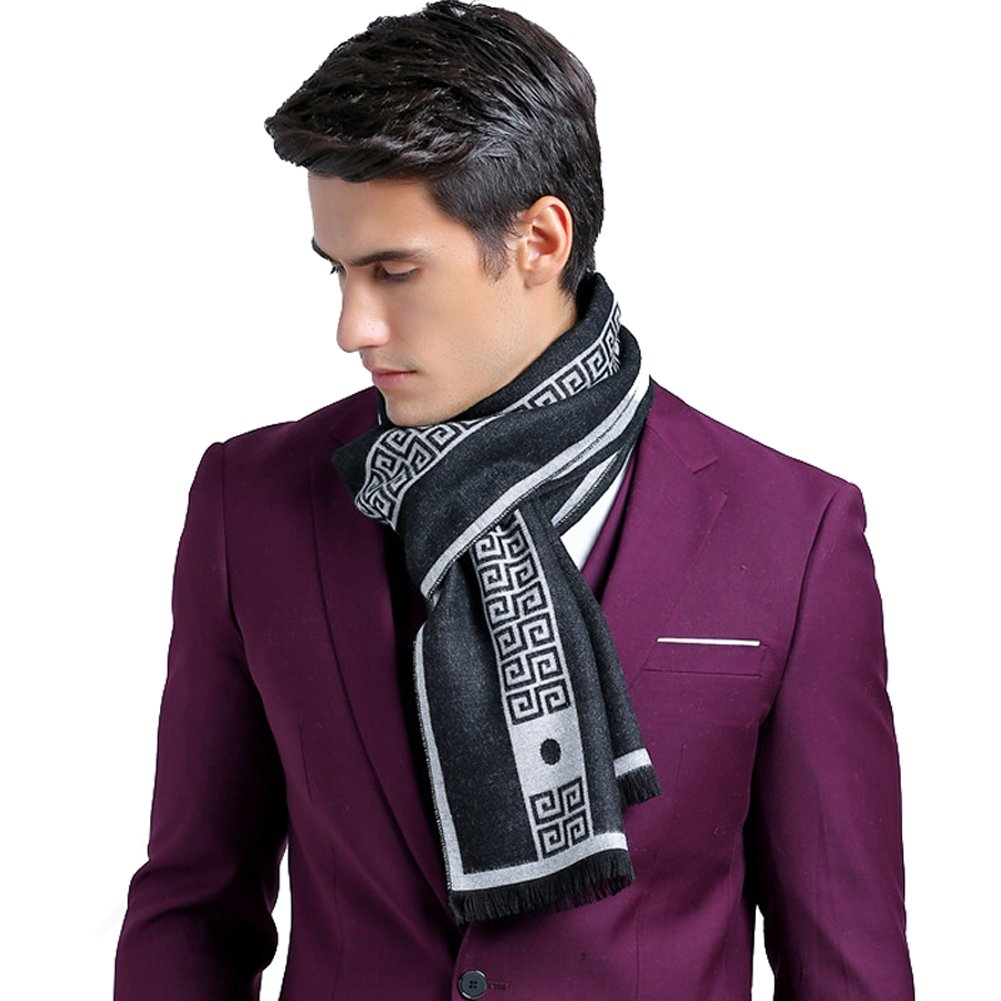 HH HOFNEN Ultra Soft Plaid Scarf Cashmere Feel Autumn Winter Scarves for Women and Men HH-WJ-M-19
