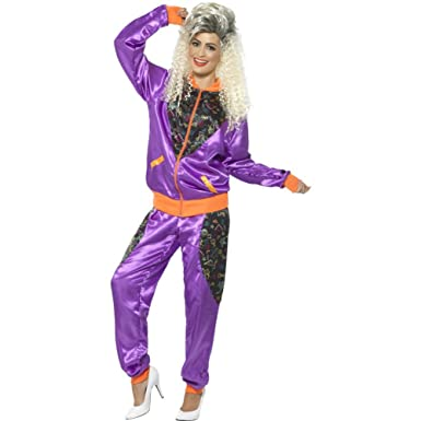 Amazon Smiffys Womens 80s Height Of Fashion Shell Suit