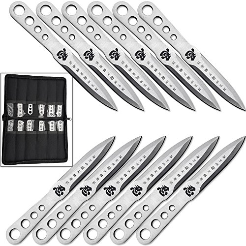 Stainless Steel Throwing Knife Set (Japanese Shinobi Throwing Knife Set of 12 Pieces 440 Stainless Steel Ninja Knives)