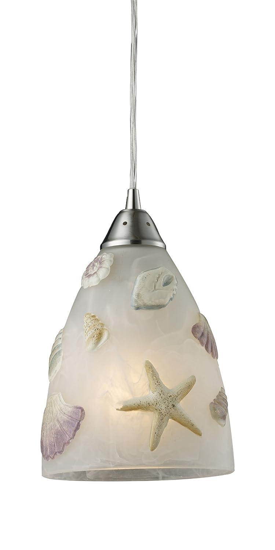 Elk 200001 seashore 1 light pendant in satin nickel ceiling elk 200001 seashore 1 light pendant in satin nickel ceiling pendant fixtures amazon aloadofball Image collections