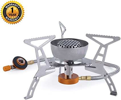 Outdoor Gas Stove Burner Foldable BBQ Cooker Camping Hiking Picnic Travel Metal