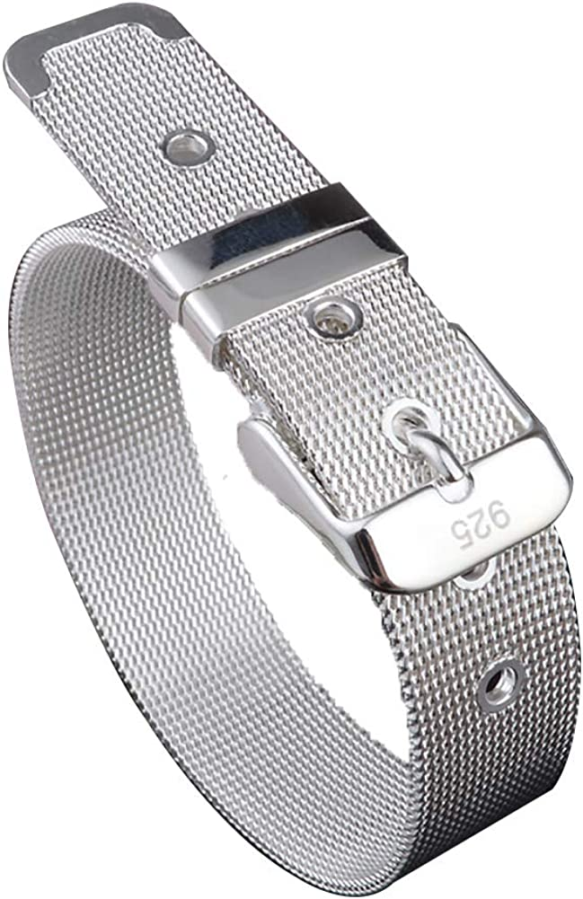 Pulsera de acero inoxidable pulsera astilla cintur/ón hebilla para hombres mujeres 14mm de ancho se ajusta hasta 8,5pulgadas mu/ñeca