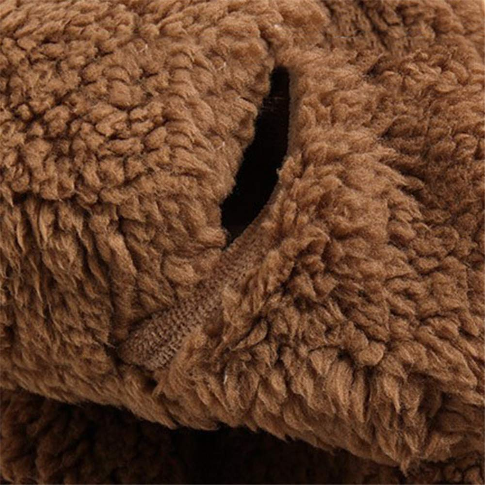 Qiaonai TM Baby Boys Girls Fur Hoodie Winter Warm Coat Jacket Cute Bear Shape Thick Clothes