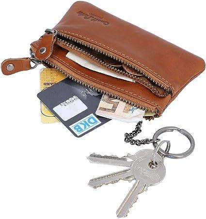 Gusti Schlüsseltasche Leder Fia Portemonnaie Geldbeutel Klein Schlüsseletui Schlüsselmappe Braun Leder Koffer Rucksäcke Taschen