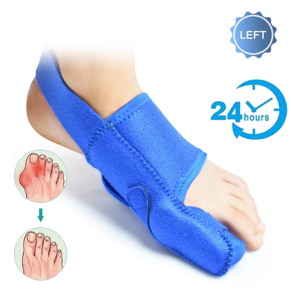 CXDM Bunion Corrector Big Bones Hallux Valgus Orthosis Pain Relief and Orthopedic Rehabilitation Unisex Toe Straighteners with Anti-Slip Strap,Left,Small by CXDM