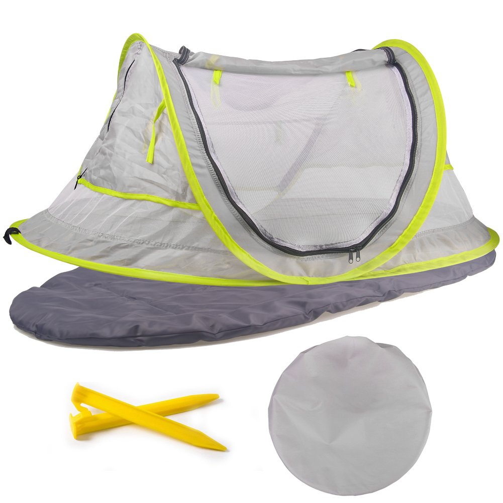 Baby Travel Tent Portable Baby Beach Tent Baby Travel Bed upf 50+ Sun Shelter SINOTOP