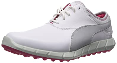5a637de1c6d4 PUMA Golf Women s Ignite Golf White Glacier Gray Rose Red Sneaker 5.5 B (