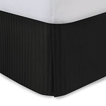 Black Bed Skirt King Size.Harmony Lane Tailored Bedskirt With 18 Drop King Size Black Sateen Stripe Bed Skirt With Split Corners Available In And 10 Colors