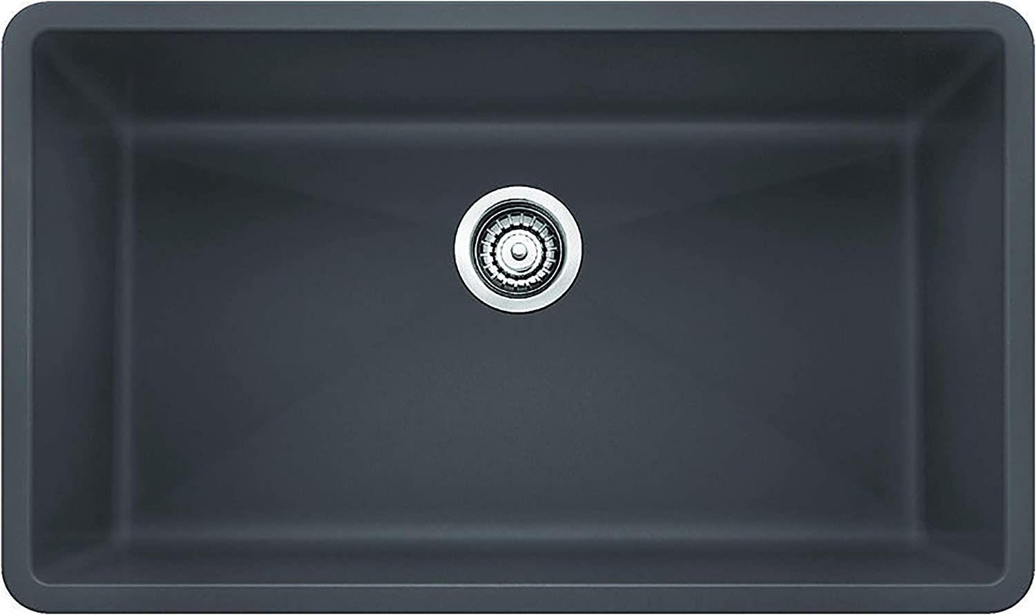 Blanco 441478, Cinder PRECIS SILGRANIT Undermount Kitchen Sink, 9.50 x 19.00 x 32.00 inches