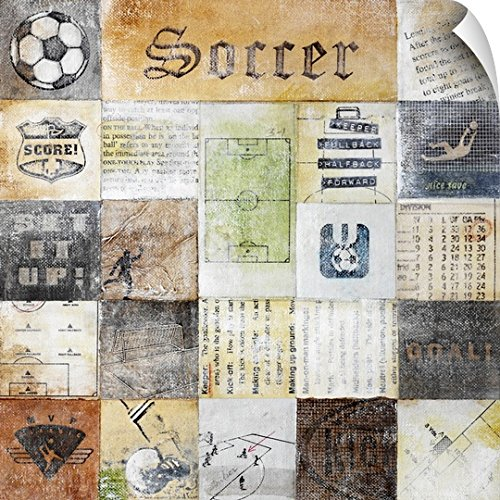 Canvas on Demand Peter Horjus Wall Peel Wall Art Print entitled Soccer Collage 48