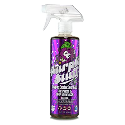 Chemical Guys AIR_222_16 Purple Stuff Grape Soda Scent Premium Air Freshener and Odor Eliminator (16 oz): Automotive