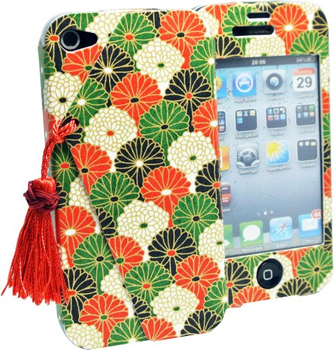Tartarian Aster Design Protective Case Made By Authentic Japanese Paper for iphone4 (Aster Paper)