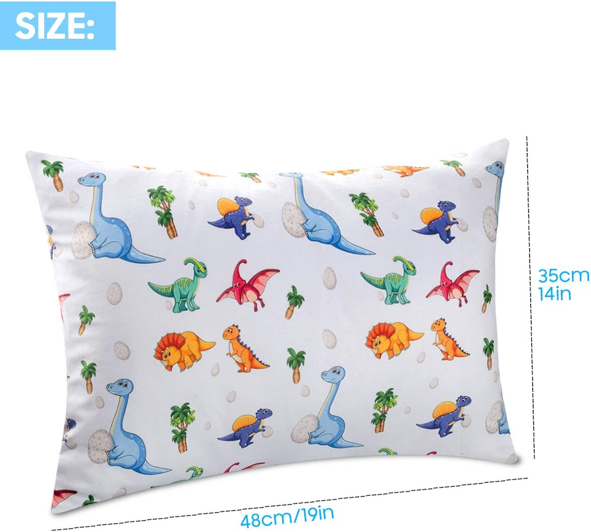 Sylfairy Toddler Pillowcase 2 Pack 14x19 Fit for 13x18 Flamingo Animals Throw Pillow Cover Soft Bedding Pillow Case for Kids 12x16 Pillow