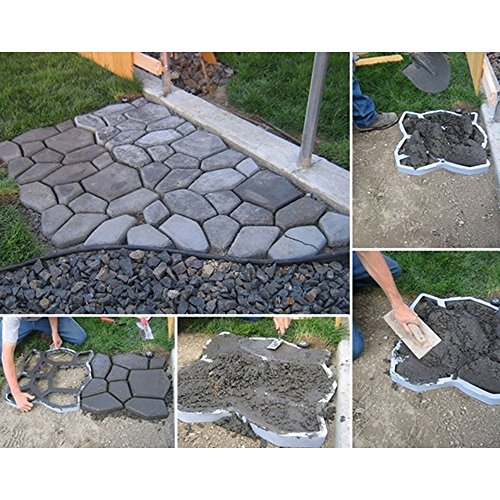 Wovte Diy Walk Maker Concrete Stepping Stone Mold Garden