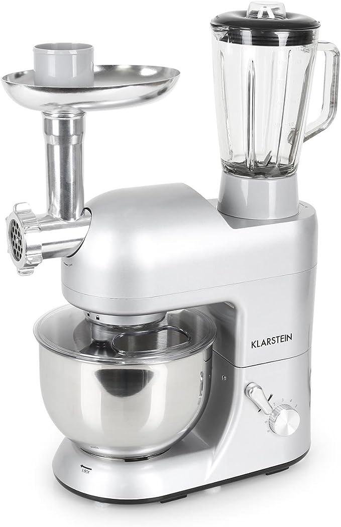 Klarstein Robot de cocina multifunción batidora, amasadora ...