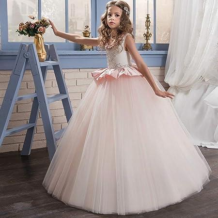 Fleur Fille Brillant Tulle robe tutu pour bébé enfants mariage demoiselle d/'honneur formelle Parti