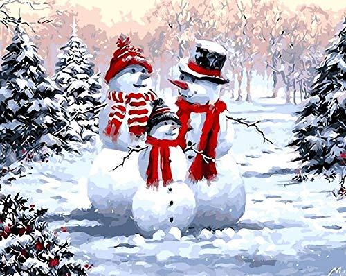 KYKDY Digitale malerei by zahlen weihnachten hirsch weihnachtsmann floral acrylfarbe moderne wandkunst malerei home hotel deco deal, ph9500,40x50cm diy rahmen B07MW83DX3 | Outlet Store