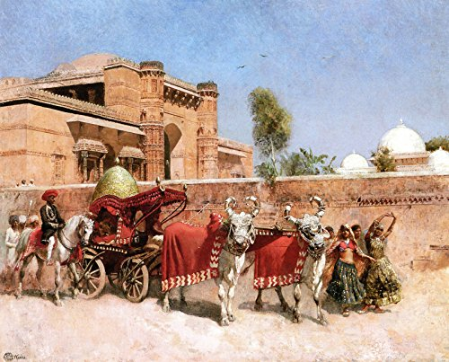 Edwin Lord Weeks A Wedding Procession Before a Palace in Rajasthan Private Collection 30