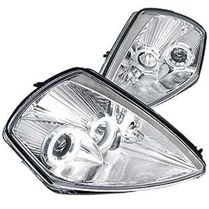 Spec-D Tuning LHP-ELP00-ABM Mitsubishi Eclipse JDM Chrome Clear Dual Halo Projector Headlights