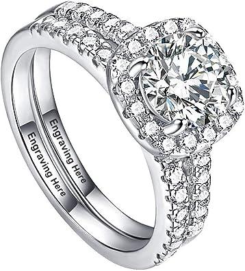 alianza anillo de bodas de plata solicitud anillo grabado Anillo anillos de pareja compromiso boda de amistad