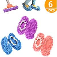 kitteny Zapatillas mopa,3 Pairs Multifunction Microfiber Dust Mop