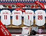Philadelphia Phillies Team Locker Room Clubhouse Personlized Officially Licensed MLB Photo Print