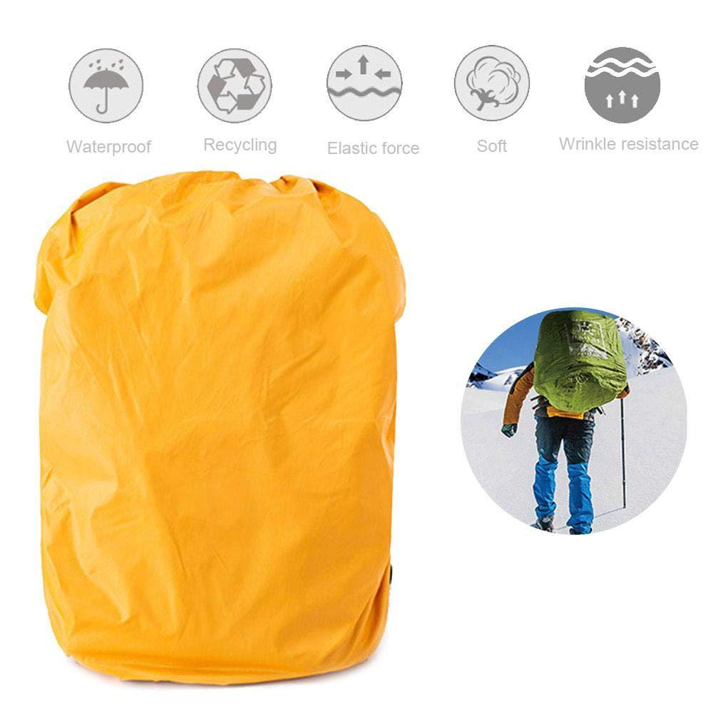 PU5000 Nylon Doppelschicht Umiwe Rucksack Regenschutz Wasserdicht Schulranzen Regenschutzh/ülle Regenfeste Aufbewahrungstasche f/ür Wandern Camping Outdoor Aktivit/äten Radfahren Reisen