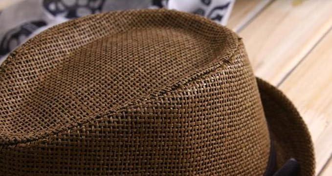 Outflower Sombrero de Paja de Tapa Plana para Niños de Primavera y Verano  Gorra de Protección de Sol para Viajes con Sombrero de Jazz  Amazon.es   Hogar 0ac7e2ac4b0