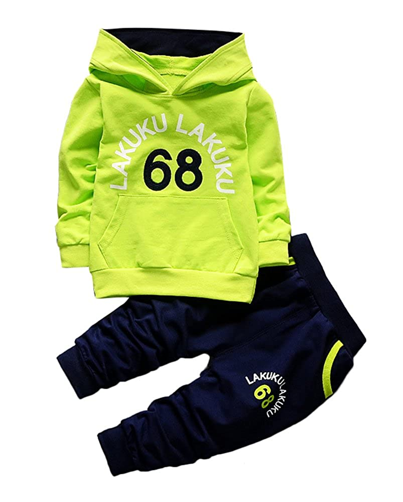 Absolufun Little Boy Fashionable Soft Hoody Long Sleeve Spring 2ps Pant Set