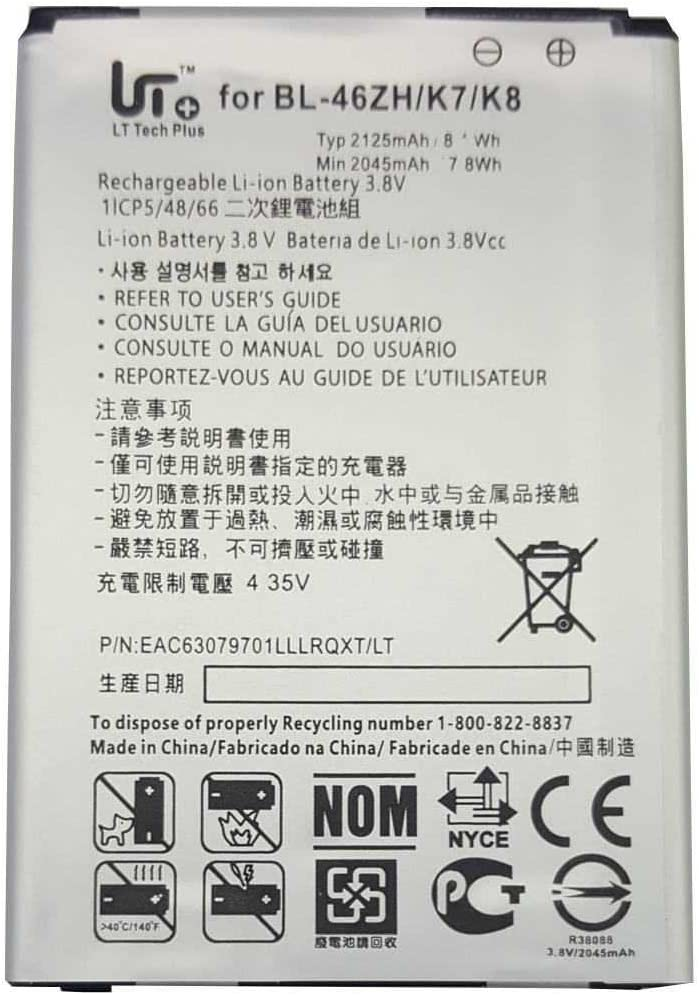 Todobarato24h Bateria LG K7 X210 K8 K350N BL-46ZH BL46ZH 2125 mAh