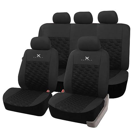 Sitzbezüge Sitzbezug Schonbezüge für Hyundai Lantra Dunkelgrau Sportline Set