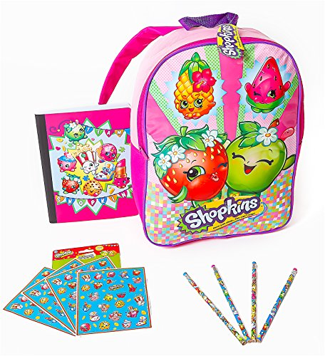 Shopkins Backpack Notebook Pencil Stickers