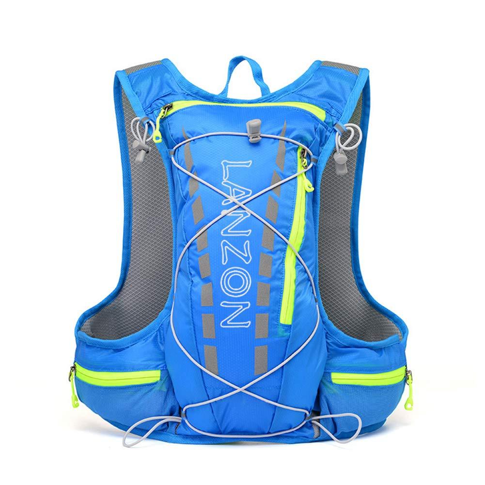 LANZON 5L Hydration Pack (NO Bladder), Marathon Running Vest, Hiking Cycling Backpack - Blue