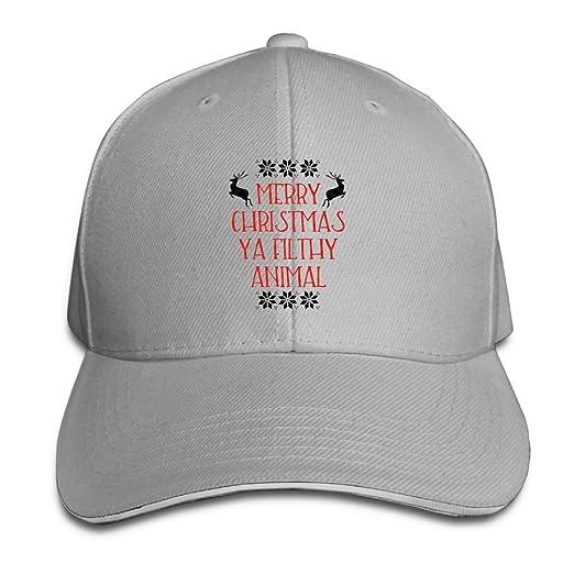 Merry Christmas Ya Filthy Animal Baseball Caps Casual Timeless Trucker Hats  For Men 661bcfacfcc