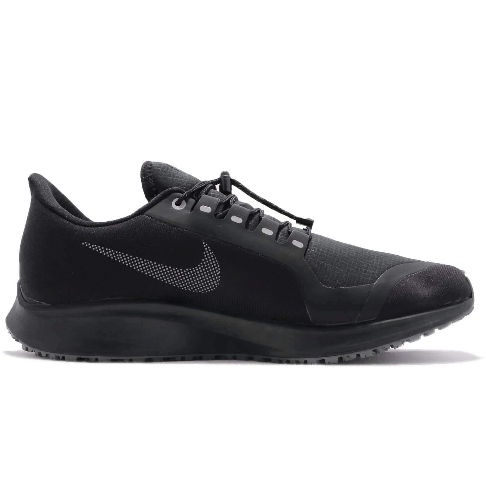 Nike Mens Air Zoom Pegasus 35 Shield Running Shoes, Black/Metallic Silver-Night Maroon