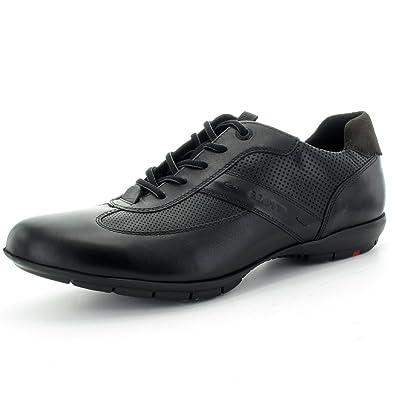 Lloyd - Zapatos de cordones de cuero para hombre, color negro, talla 11,5