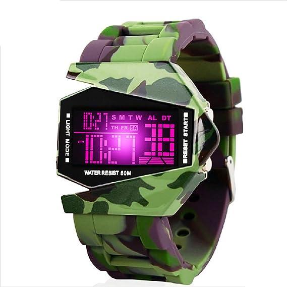 xinxu - Relojes digitales para hombre adulto adolescentes 50M impermeable deportes al aire libre analógico reloj