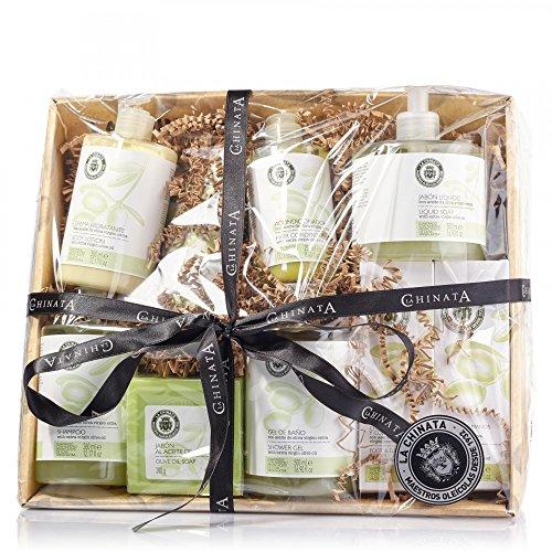 Cesta Mediana Cosmética para regalo marca La Chinata cosméticos elaborados con aceite de oliva virgen extra