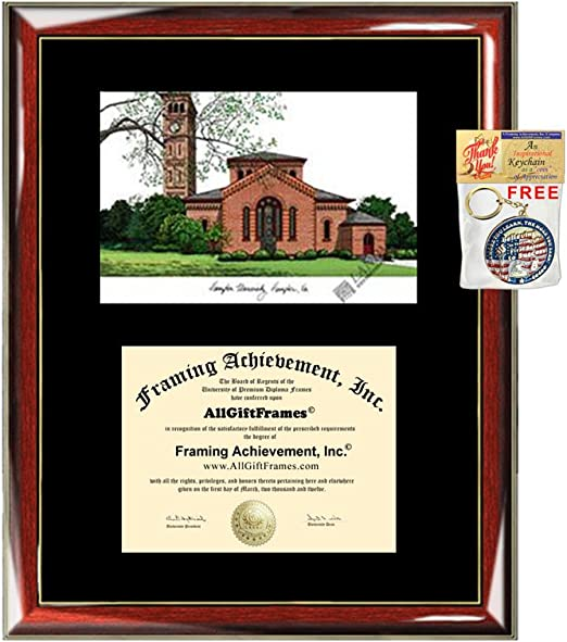 Amazon Com Hampton University Diploma Frame Lithograph Premium Wood Glossy Prestige Mahogany With Gold Accents Single Black Mat University Diploma Frame Clothing