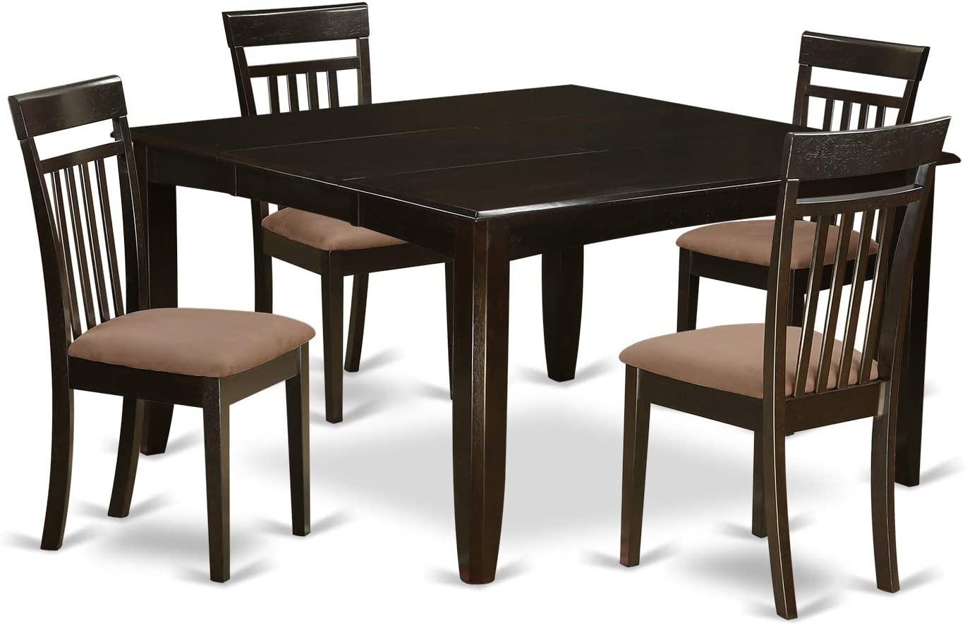 PFCA5-CAP-C 5 PC Dining room set for 4-Dinette Table with Leaf and 4 Dinette Chairs.