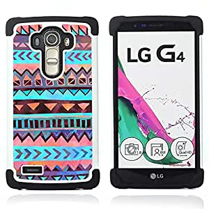 For LG G4 H815 H810 F500L - Indian tribe pattern orange Dual Layer caso de Shell HUELGA Impacto pata de cabra con im??genes gr??ficas Steam - Funny Shop -