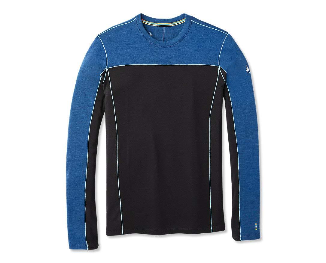 Alpine bleu Heather S intelligentwool Merino Sport 250 manche longue Crew T- T-Shirt Homme