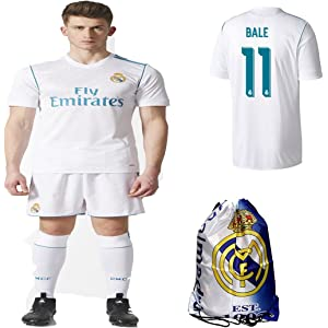 Real Madrid NB Ronaldo Bale Benzema Ramos 2017 2018 17 18 Kid Youth Replica  Home Jersey 118a7c7b1
