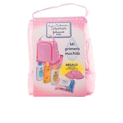 Johnsons Baby Mochila Set de Champú Baño Hidratante, Loción Hidratante, Toallitas y Calcetines Antideslizantes