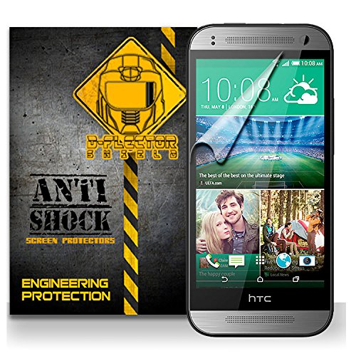 D-Flectorshield HTC One Mini 2 II Anti-Shock/military grade/ TPU /Premium Screen Protector / self healing / oleophobic material / EZ install / ultra high definition / scratch proof / bubble free install / precise laser cuts (Htc One Mini Accesories compare prices)